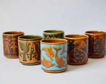 Hornsea Mugs - John Clappison - Hornsea England - Vintage Coffee Mugs - Hornsea Coffee Cups - John Clappison Mugs
