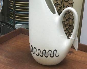 Rare Vintage Mid Century Poppy Trail Metlox Aztec pattern large pitcher