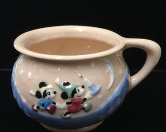 Disney Collectible - 1950's Rare Disney Metlox Ceramic Pink Chamber Potty - Evan K. Shaw