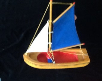 Lego Denmark wood sailboat rare 1940's toy