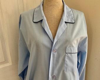a7c58b8538 Vintage 1980er Jahre St Michael für Marks und Spencer Mens Baby blau  leichte Baumwolle Pyjama Set - Größe groß
