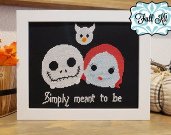 Nightmare Before Christmas Counted Cross Stitch Kit Jack//Sally//Christmas