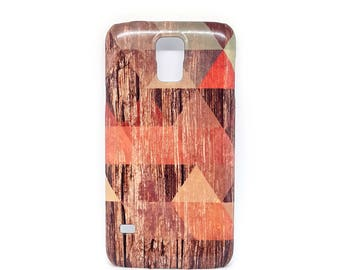 On Sale - For Galaxy s5, Geometric for Samsung galaxy s5 case, galaxy s5 case, for Samsung galaxy s5 case, wood case