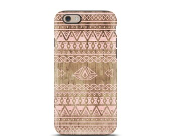 Aztec iphone 7 case, iphone 7 case, iPhone 6 case, iphone 7 plus case, iPhone 8 case, iphone 5s case, phone case, iphone case - Wood