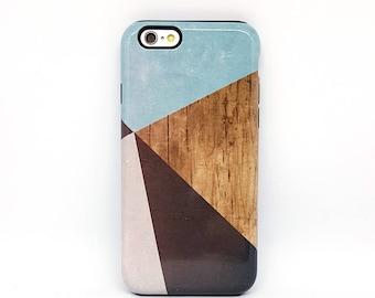 iPhone 6 s Plus cas, iPhone 5 s, coque pour iPhone 6 iPhone 6 Plus, iPhone 7, iPhone 7 Plus affaire, téléphone, iphone 7 housse - bois géométrique