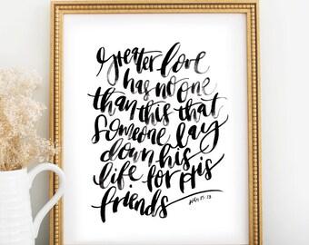 Scripture Print: Greater Love