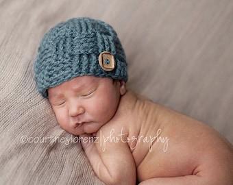 Baby Boy Beanie, Crochet Baby Boy Hat, Baby Boy Hospital Hats, Crochet newborn baby boy hat, newborn infant hat - knitted hat baby boy gift
