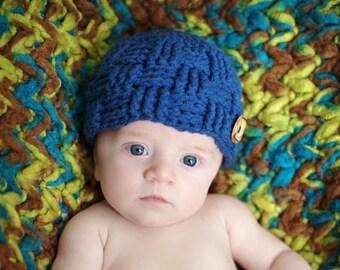 Newborn Crochet Baby Boy Hat Bonnet Baby Shower Gift | Etsy