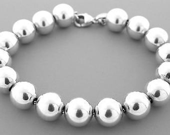 941d56cbe Authentic Tiffany & Co 10mm Beaded Ball Bracelet (7.5)