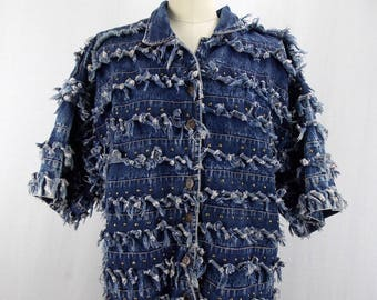 Nancy K Denim Jacket Altered Couture