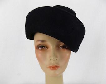 Women s Stetson Fifth Avenue Black Felted Wool Hat 3d3db166981c