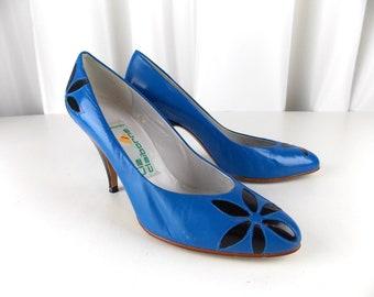 53e73f6b8f Liz Claiborne Pumps Blue Leather 7 M