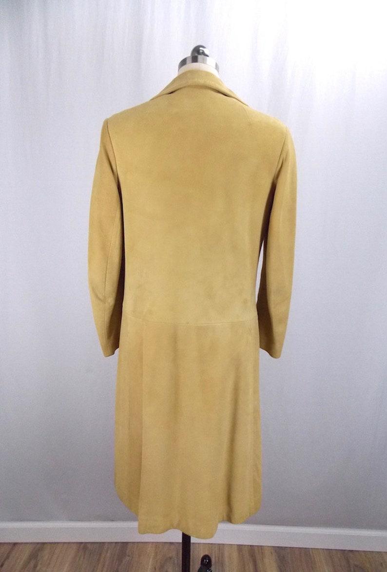 Suede Leather Dress Zipper Jumper Tan