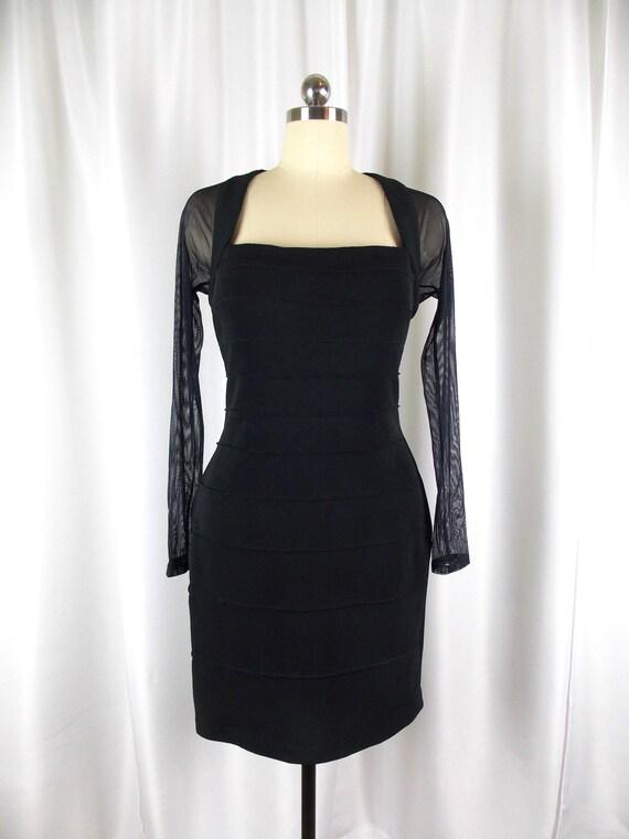 Body Con Black Dress 1990's Medium
