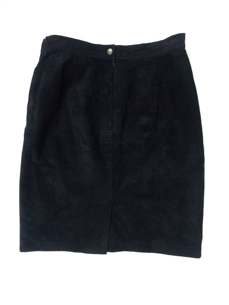 Forenza Black Suede Leather Skirt Mini