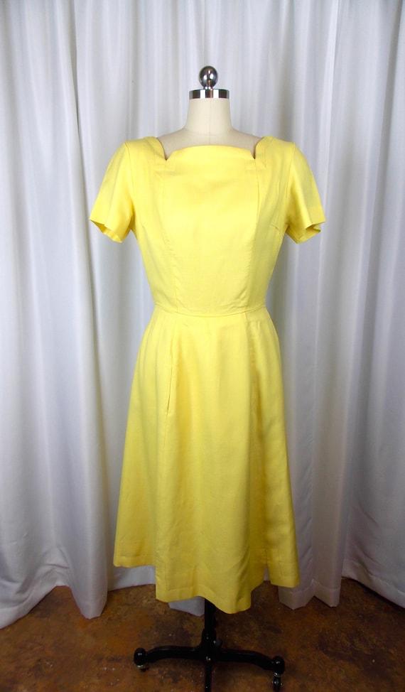 1960's Bright Yellow Dress Kerrybrooke