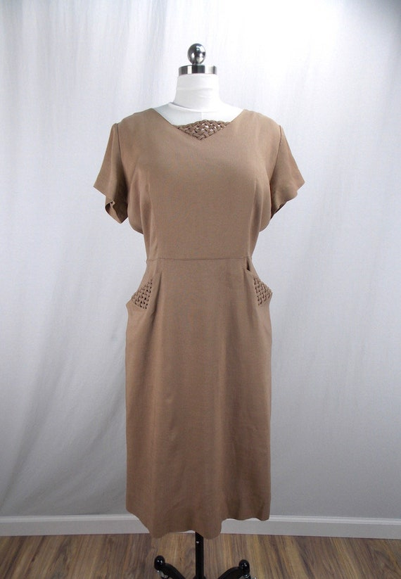 George Hess Linen Dress Large, XL Short Sleeve