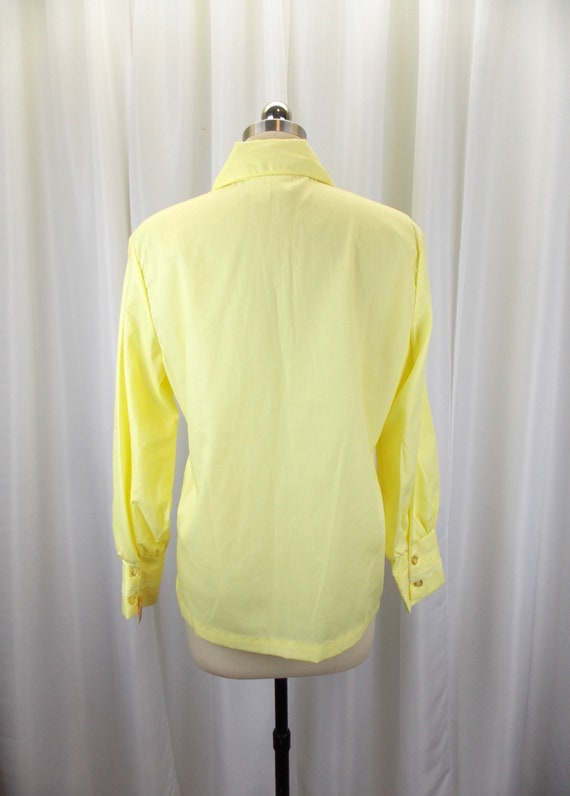 1970's Womens Blouse Statement Collar NOS Long Sl… - image 5