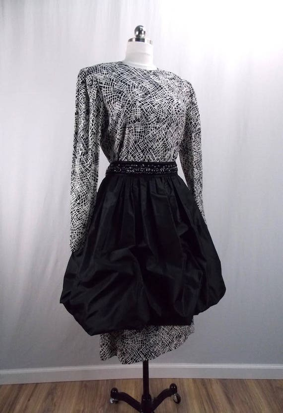 1970's Designer Bill Blass Formal Dress with Peplu