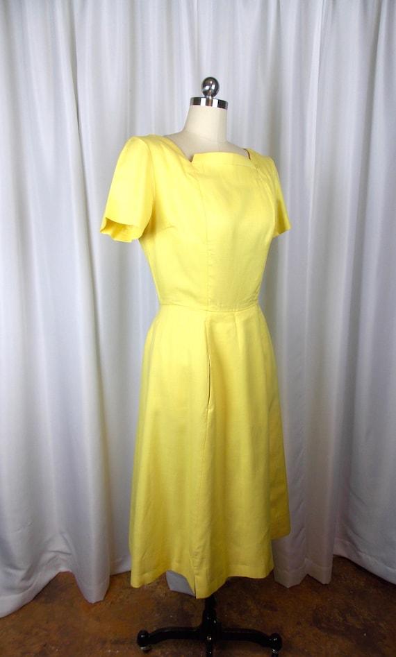 1960's Bright Yellow Dress Kerrybrooke - image 4
