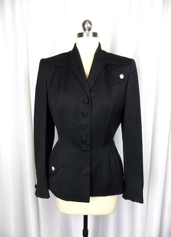 1940's Black Suit Jacket Walda Scott Original