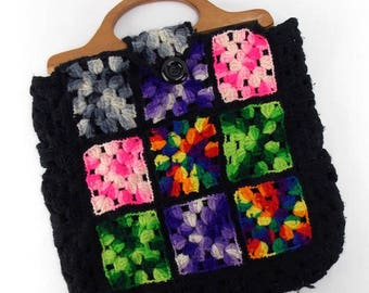 Granny Square Crochet Handbag