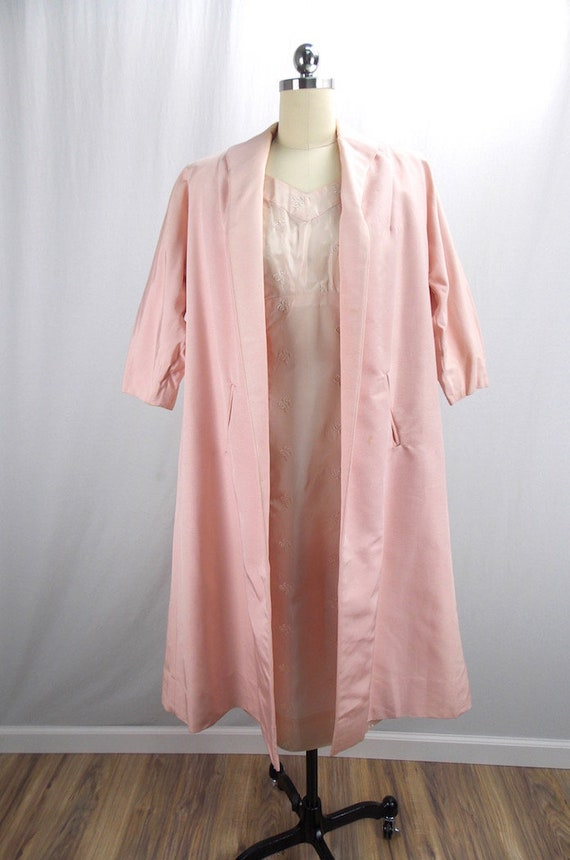1950's 2 Piece Set Pink Dress with Matching Swing