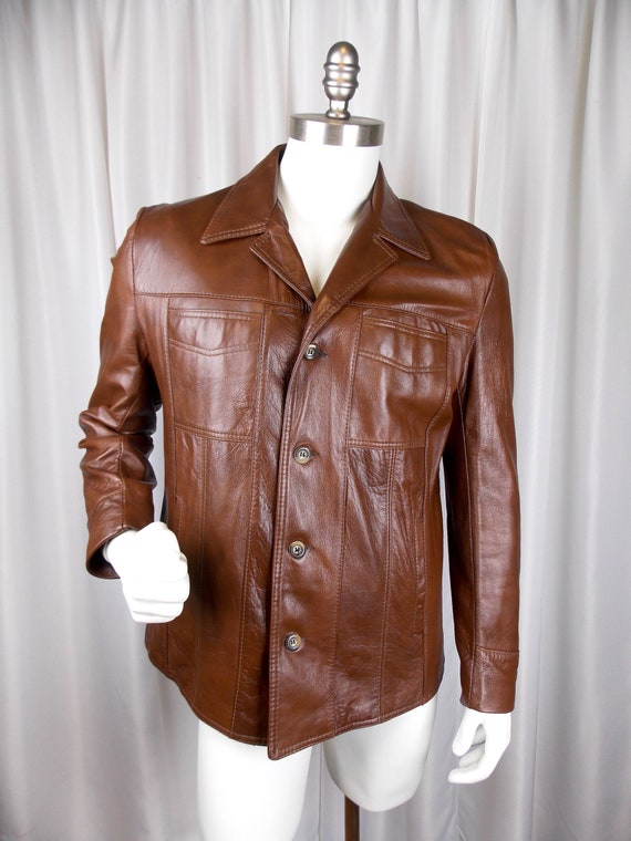 Men's Imitation Leather Jacket Reed Sportswear siz