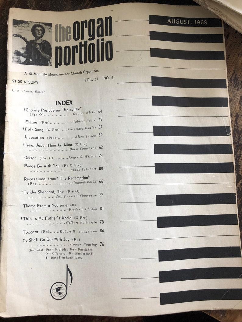 The Organ Portfolio - A Bi-monthly Magazine for Church Organists