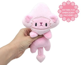 ITH In the hoop plush pattern - Steven Universe pink lion - embroidery machine design - kawaii cute plush small plushie star galaxy stuffie