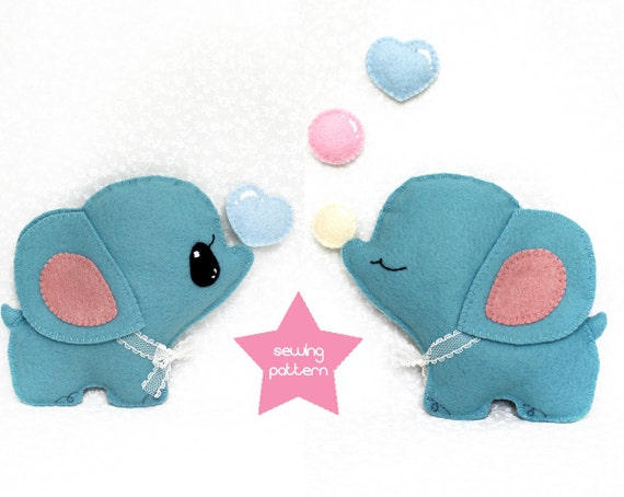 Pdf Sewing Pattern Elephant Stuffed Animal Easy Beginner Etsy