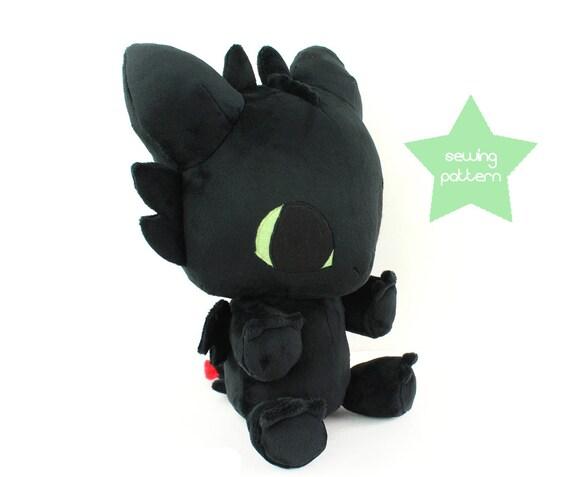 Pdf Sewing Pattern Toothless Baby Dragon Stuffed Animal Etsy