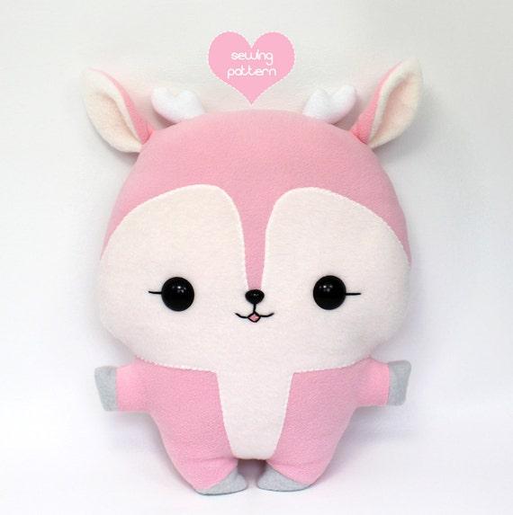 PDF sewing pattern - Deer Reindeer stuffed animal - easy beginner ...