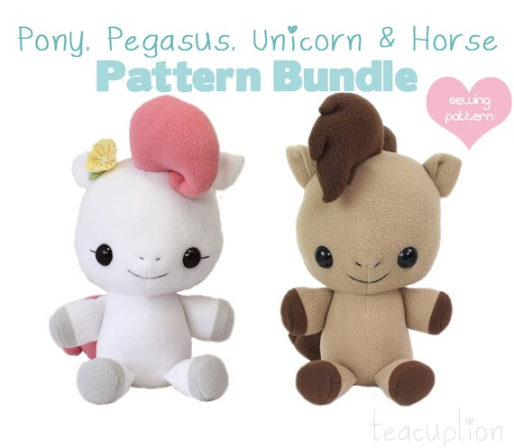 Pdf Sewing Pattern My Little Pony Horse Unicorn Pegasus Etsy
