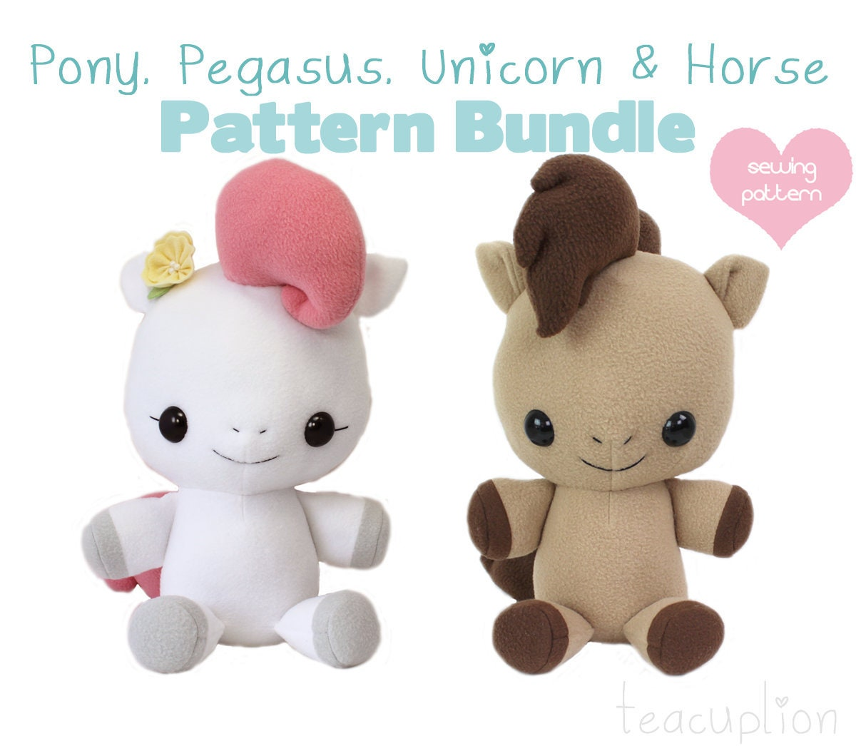 PDF sewing pattern My Little Pony Horse Unicorn Pegasus | Etsy