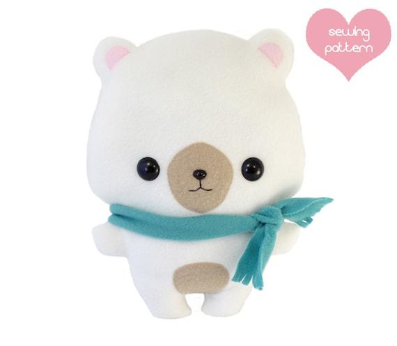 PDF sewing pattern kawaii cute Bear pillow stuffed animal | Etsy