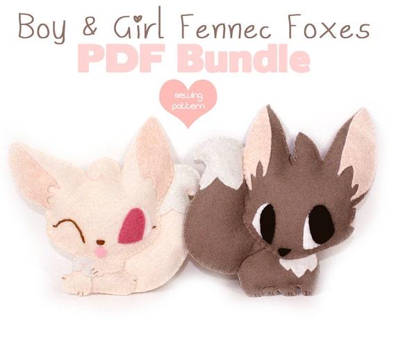 Pdf Sewing Patterns Fennec Fox Stuffed Animals Easy Etsy