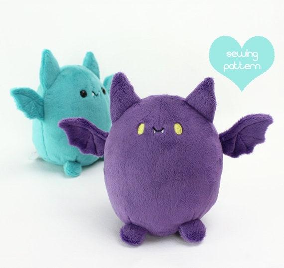 PDF sewing pattern Fat bat halloween kawaii plushie cute | Etsy