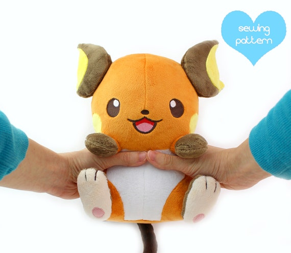PDF sewing pattern kawaii anime chibi electric mouse rat | Etsy