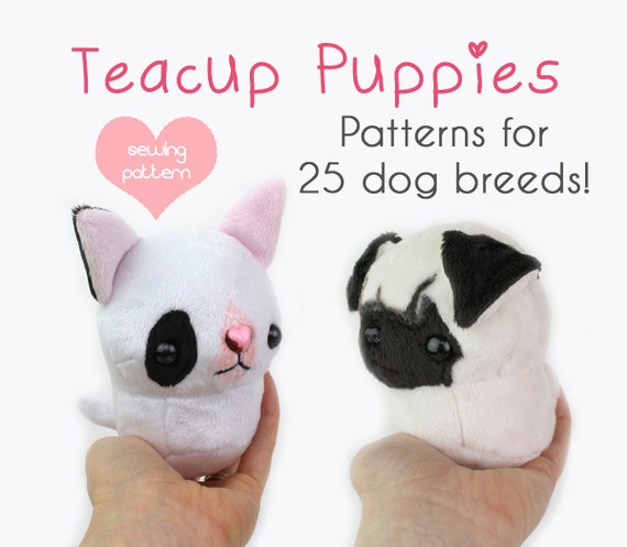 Pdf Sewing Pattern Teacup Puppy Dog Stuffed Animal Plush Etsy