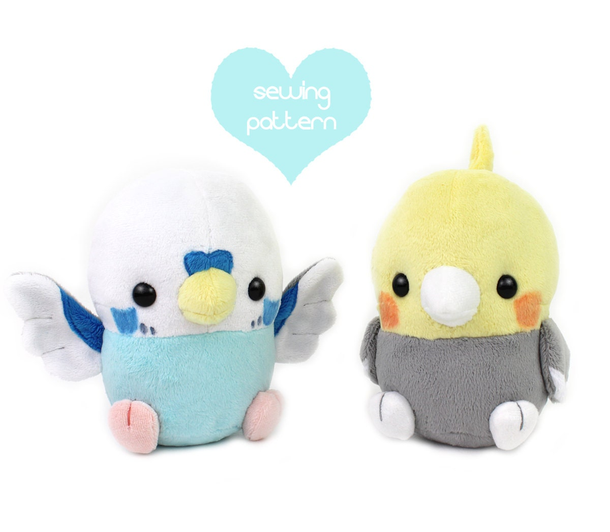 photo about Free Printable Stuffed Animal Patterns identify PDF sewing behavior - Youngster Chicken plush filled animal - kawaii Cockatiel Parakeet smooth toy plushie 6\