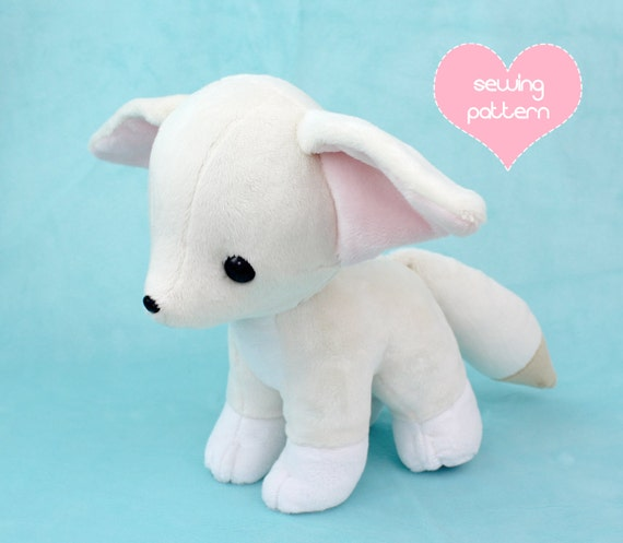 Pdf Sewing Pattern Baby Fennec Fox Stuffed Animal With Video Etsy