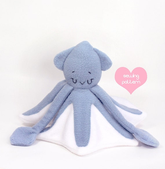 Pdf Sewing Pattern Squid Lovey Lovie Stuffed Animal Easy Etsy