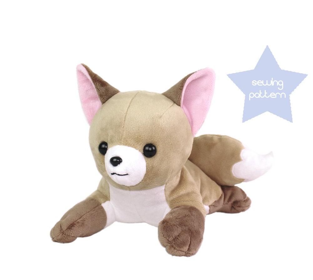 PDF sewing pattern Fox laying lying stuffed animal dog | Etsy