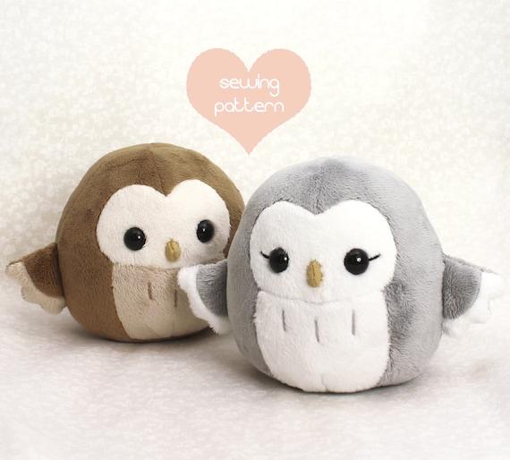 Pdf Sewing Pattern Owl Plush Toy Easy Kawaii Stuffed Etsy