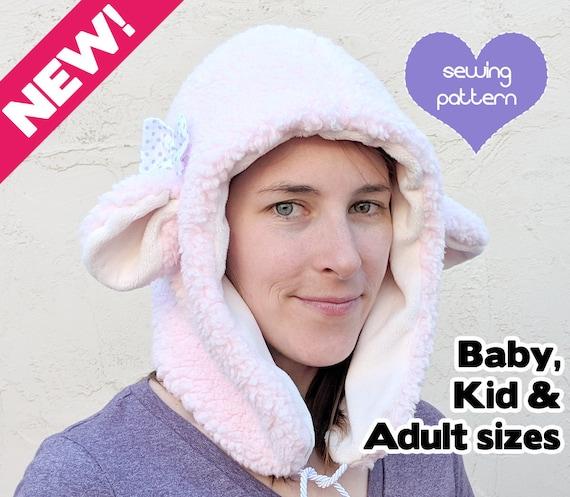 PDF-Winter Hut Tier 4 Größen Mütze Nähen Muster Baby Kind | Etsy