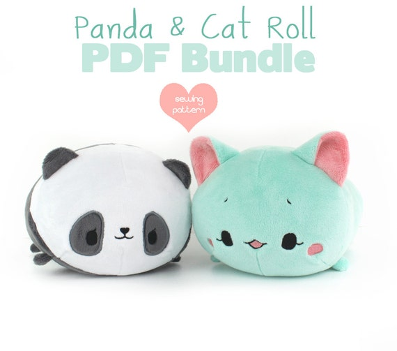 12% OFF PDF sewing pattern bundle Panda and Cat Roll loaf | Etsy