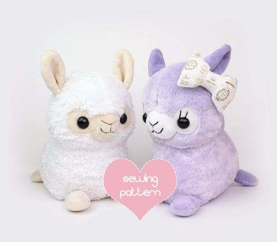 PDF sewing pattern Alpaca Llama stuffed animal kawaii | Etsy