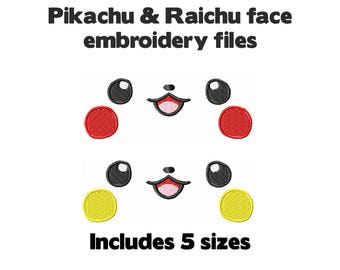 Machine embroidery design file - 5 kawaii anime sizes cute for plush stuffed animal plushie soft toy craft