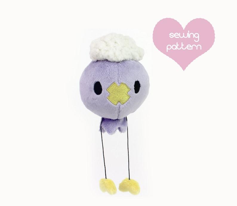 PDF sewing pattern - Pokemon Drifloon spooky ghost plush stuffed animal -  easy cute kawaii anime DIY plushie 8.25in e1de632fddd6e